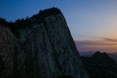 The famous tourist attractions in Shaanxi province Chinese, Huashan mountain. Stock Photo