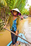 A famous tourist destination is  in Mekong delta , Vietnam. Royalty Free Stock Photo