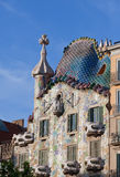 Famous tourist destination restored by catalan architect Antoni Gaudi. Facade is decorated with mosaic tiles Stock Image