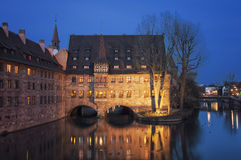 Famous touristic city Nuremberg, Germany Royalty Free Stock Images