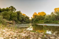 Famous touristic destination Alfeios river in Peloponnese Greece.  Stock Image