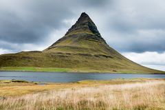 Kirkjufell mountain on Snaefellsnes peninsula Iceland royalty free stock images