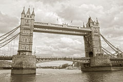 The famous Tower Bridge stock images