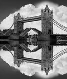 Famous Tower Bridge in black and white, London, UK Stock Photography