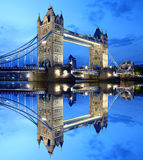 Famous Tower Bridge in evening, London, UK Royalty Free Stock Photos