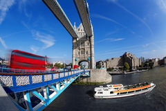 Famous Tower Bridge in London, England Stock Photos