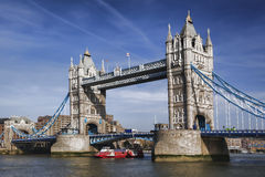 Famous Tower Bridge in London, England Royalty Free Stock Image
