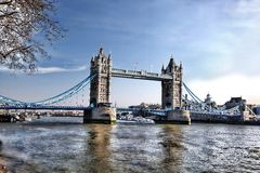 Famous Tower Bridge in London, England Royalty Free Stock Images