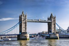 Famous Tower Bridge in London, England Royalty Free Stock Photography