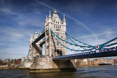 Famous Tower Bridge in London, England Stock Image