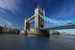 Famous Tower Bridge in London, UK Royalty Free Stock Photos