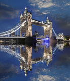 Famous Tower Bridge in London, UK Stock Image