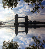 Famous Tower Bridge in London, UK Stock Images