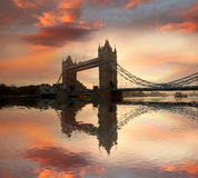 Famous Tower Bridge in London, UK Stock Photography