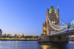 The famous Tower Bridge. At London, United Kingdom Stock Photos
