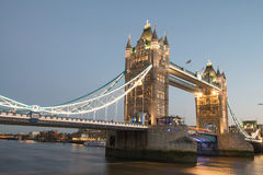 Famous Tower Bridge at night Royalty Free Stock Image