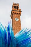 Famous tower with a glass sculpture at Murano Royalty Free Stock Photo