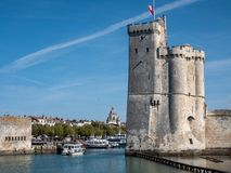 Famous tower of La Rochelle, a town in western France. It is located at the entrance to the old port. La Rochelle is the capital. Of the Charente-Maritime stock images