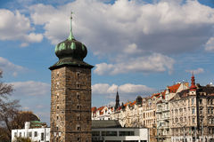 Famous tower in Prague Stock Photos