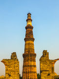 Famous tower of Qutb Minar Stock Images