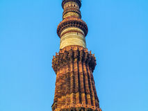 Famous tower of Qutb Minar Stock Image