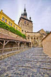 Famous tower of Sighisoara, Romania Royalty Free Stock Images