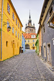 Famous tower of Sighisoara, Romania Stock Images