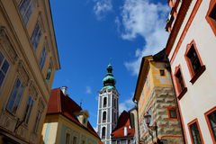 Famous town,cesky krumlov in 2011 summer Stock Photos