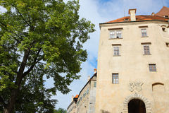 Ancient castle in cesky krumlov Royalty Free Stock Photos