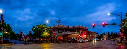 Night falls in Cody Wyoming Royalty Free Stock Photography