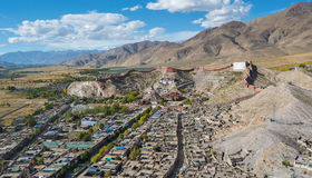Famous town of Gyantse in Tibet Stock Photography
