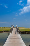 Famous Town Neck Beach Boardwalk in Sandwich, Massachusetts, USA Stock Image