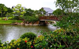 A famous traditional Japanese garden Stock Image