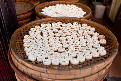 Macau Almond cookies production Royalty Free Stock Photo