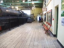 Famous train museum in england stock image