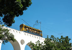 Famous tram from Lapa to Santa Teresa district, Rio de Janeiro Stock Photo