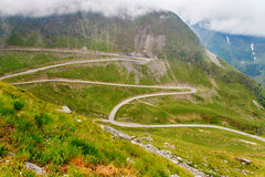 Famous Transalpina road, Carpathians, Romania. Famous Transalpina road, preferred by motorcyclists, Carpathians, Romania royalty free stock photos