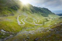 Famous Transfagarasan highway at idyllic sunny day Royalty Free Stock Images