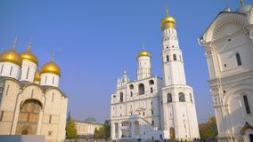 Famous travel spot architecture church in the the Kremlin, Moscow Russia.  royalty free stock images