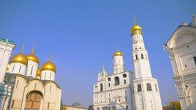 Famous travel spot architecture church in the the Kremlin, Moscow Russia.  royalty free stock photos