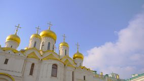 Famous travel spot architecture church in the the Kremlin, Moscow Russia.  royalty free stock photo