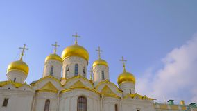 Famous travel spot architecture church in the the Kremlin, Moscow Russia.  stock photography