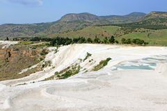 Famous travertine terraces in Pamukkale, Turkey Royalty Free Stock Photography