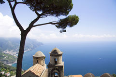 Famous tree and Ravello Royalty Free Stock Photos