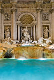 The famous Trevi Fountain at night, Rome Royalty Free Stock Images