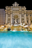 The famous Trevi Fountain at night, Rome Royalty Free Stock Photos