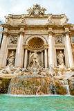 The famous Trevi Fountain in Rome Royalty Free Stock Photography