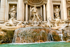 The famous Trevi Fountain in Rome Stock Image