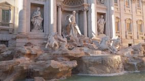 The Famous Trevi Fountain Rome Italy.  stock video