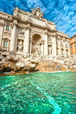The Famous Trevi Fountain , rome, Italy. Royalty Free Stock Photography